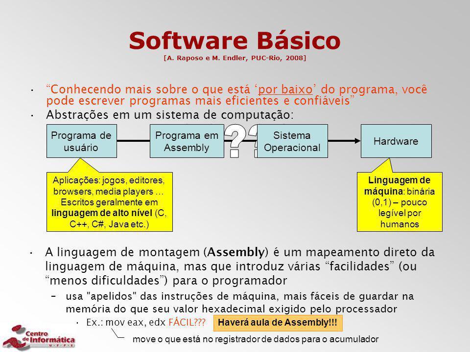Software Básico [A. Raposo e M. Endler, PUC-Rio, 2008]